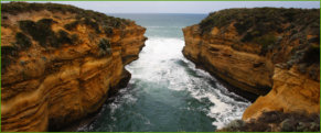 One of many beautiful bays on Great Ocean Rd. Vic